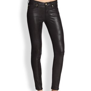 7 for All Mankind Black Crackle Effect Jeans